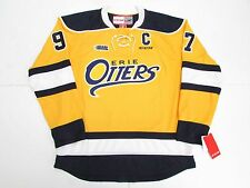 CONNOR McDAVID ERIE OTTERS OHL YELLOW THIRD CCM PREMIER 7185 HOCKEY JERSEY