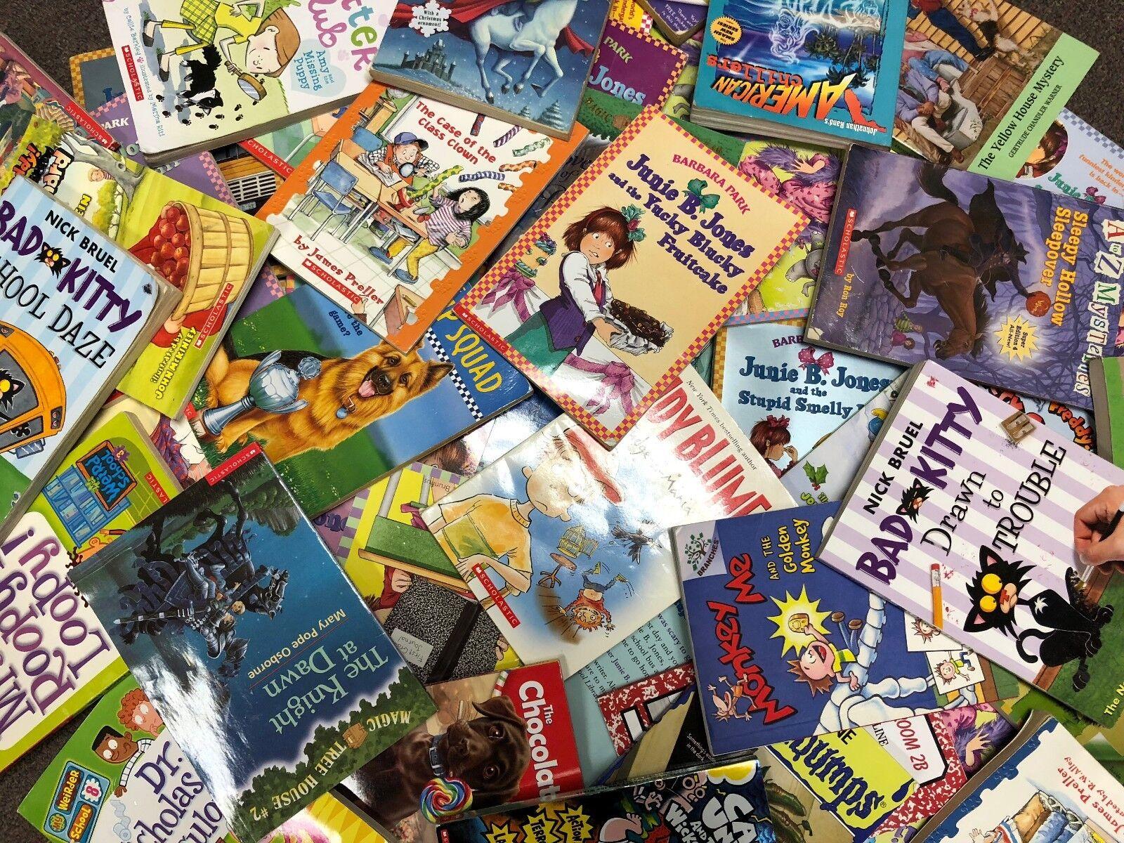 Купить Lot of 30 RANDOM Children's Kids Chapter Books Instant Library Unsorted bundle