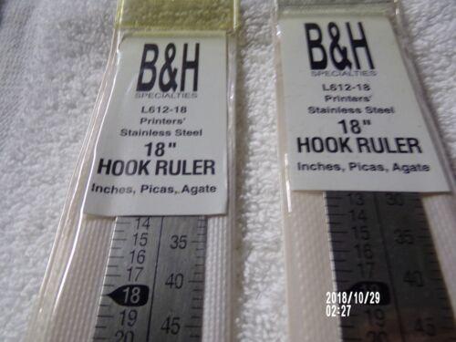 3 -  Letterpress Line Gauge  Inches 6&12 pt.agate  printers Ruler 18 in L612-18
