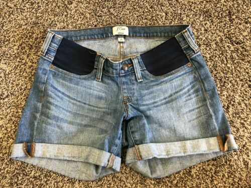 J. Crew Maternity Shorts Sz 28 Low-Waist Cuffed Denim