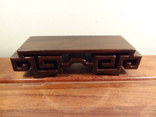 "Rectangle Display Stand - Black Suanzhi Wood - 6""x2"""