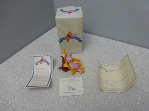 Pooh And Friends Every Little Breeze Carries A Dream Piglet Leaves Figurine OB