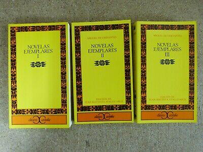 Novelas Ejemplares.Tres Tomos Completa.Miguel de Cervantes.Castalia