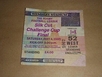 1985 RUGBY CUP FINAL TICKET STUB  @ WEMBLEY - WIGAN v HULL