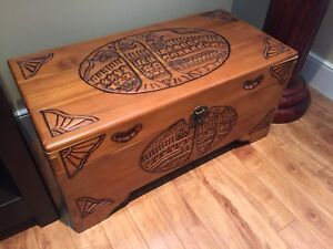 SOLD - Handmade Keepsake Wooden Storage Chest