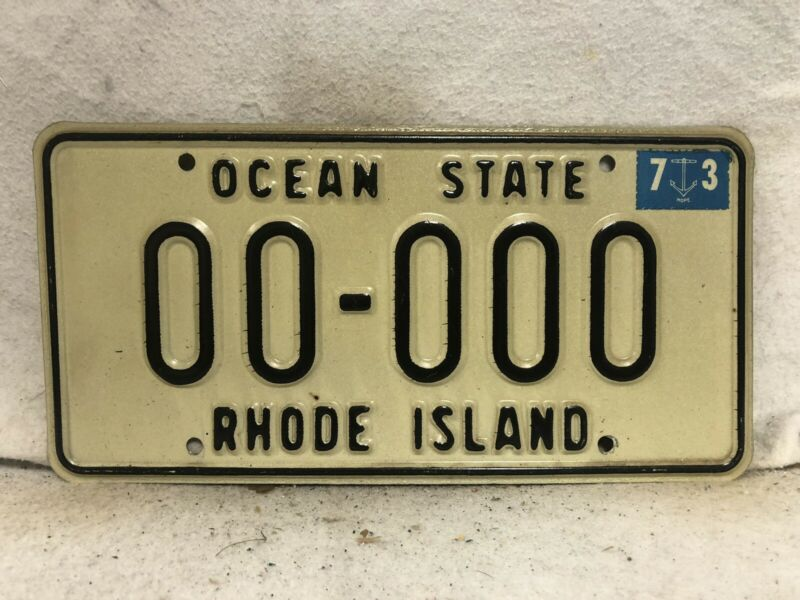 1973 Rhode Island Sample License Plate