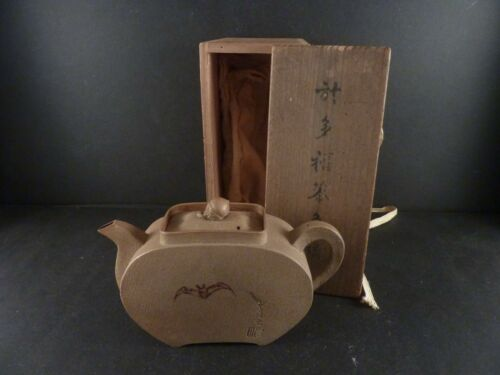Fine Antique Japanese Daigo Pottery Teapot by OTAFUKU-AN Circa 1840 Edo Period