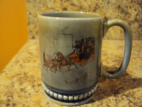 VINTAGE IRISH PORCELAIN MADE IN IRELAND MUG CUP STAGECOACH