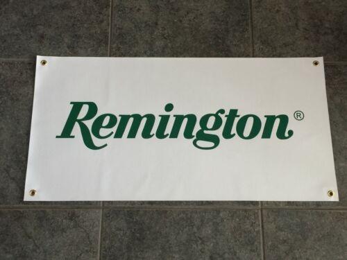 Remington banner sign garage wall 2A 2nd Amendment rifle shotgun ammunition ammo