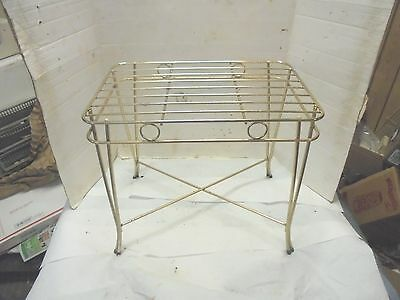 gold chromed metal rack stand retro 16 inches tall plants