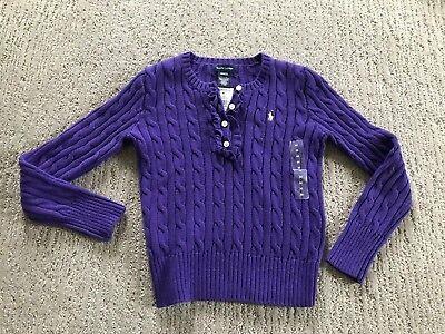 New RALPH LAUREN GIRLS cardigan sweater Sz M 8-10