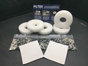 5 x COMPATIBLE BiORB FILTER SERVICE KIT HALO LIFE BIO ORB INC 2 CLEANING PADS