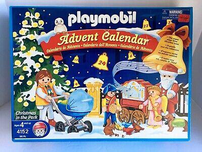 "Playmobil Advent Calendar 4152 ""Christmas In The Park"" Retired NIB 2006 PM-1"