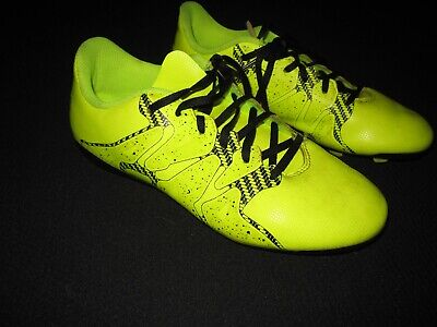 Adidas Size 4 youth Soccer Cleats Bright Yellow And Black ~ 9998