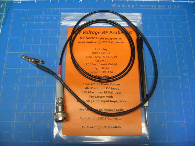 VTVM RF Probe - Low Voltage - B&K/Eico/Knight/RCA/Paco Meters & More