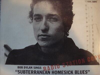"BOB DYLAN 45 RPM 7"" - Subterranean Homesick Blues RSD 2011 PROMO!!"