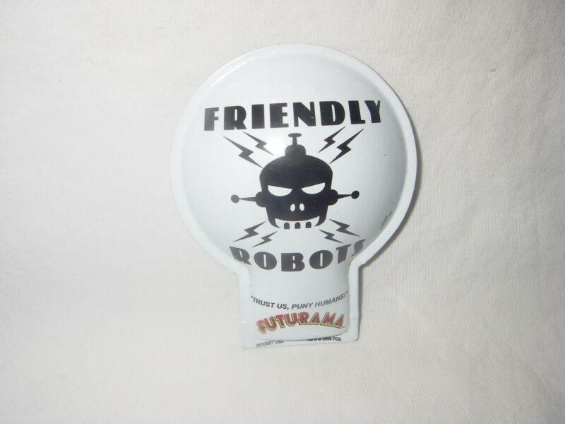 VINTAGE FUTURAMA FRIENDLY ROBOT ROCKET USA METAL CLICKER TOY NEW