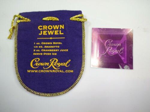 Vintage Crown Royal 100ml Crown Royal Crown Jewel Drink Recipe Bag w/ Card Rare
