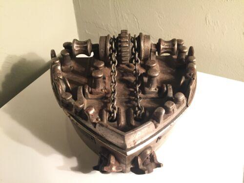 Rare Commemorative Articulating Iron Ship Casting John J. Riley Foundry Brooklyn