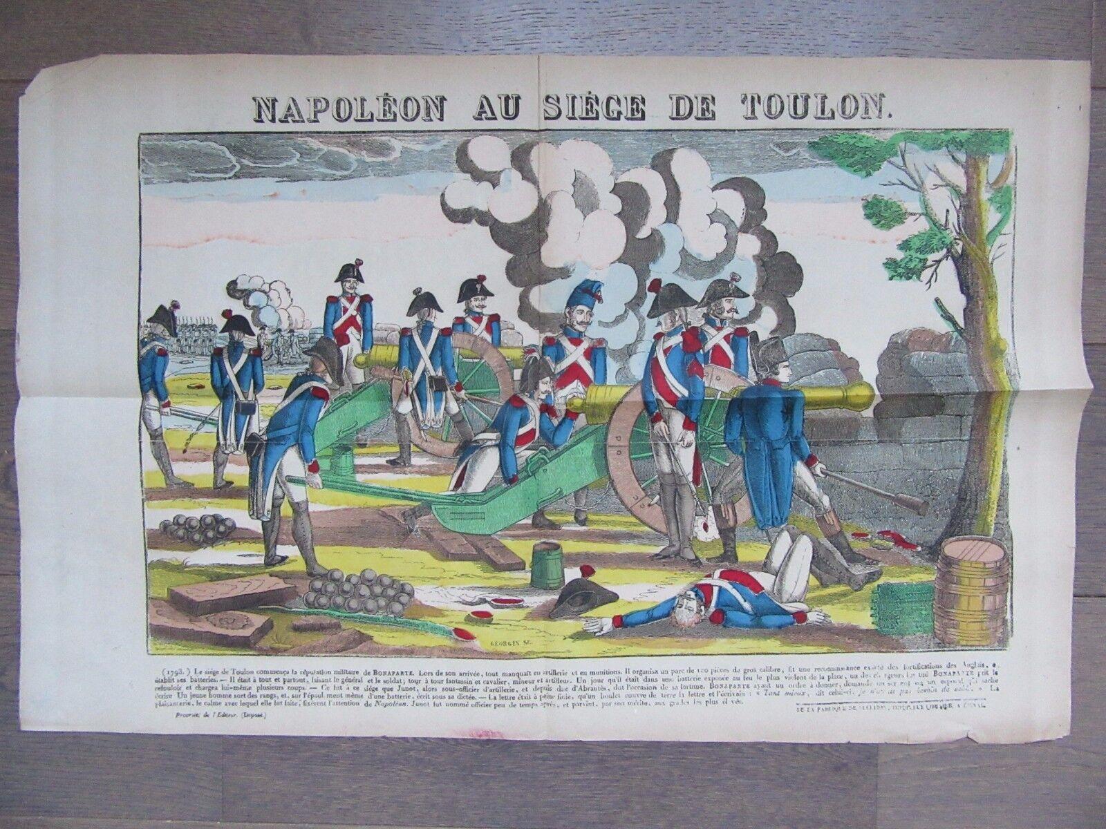 GRANDE IMAGE EPINAL 1880 NAPOLEON AU SIEGE DE TOULON 1793