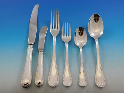 Rubans by Christofle France Silverplate Flatware Set 8 Service Dinner 54 pcs