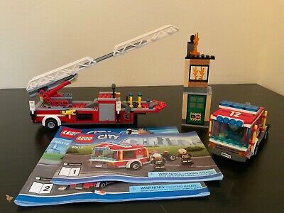 Lego City Fire Engine Set 60112 - 100% Complete with Minifigures & Manuals