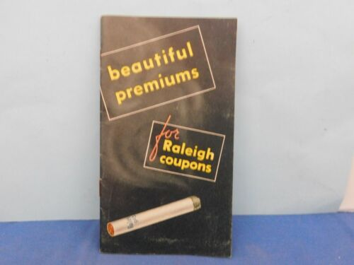 Vincent Beautiful Premiums for Raleigh Cigarette Coupons Catalog No. 1