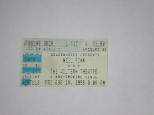 Neil Finn Crowded House Ticket Stub-1998-Wiltern Theatre-Los Angeles,CA