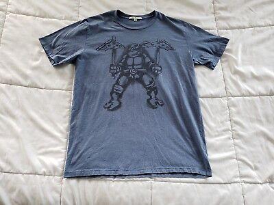 Men's Junk Food Teenage Mutant Ninja Turtles Medium Leonardo Pizza T-Shirt TMNT ()