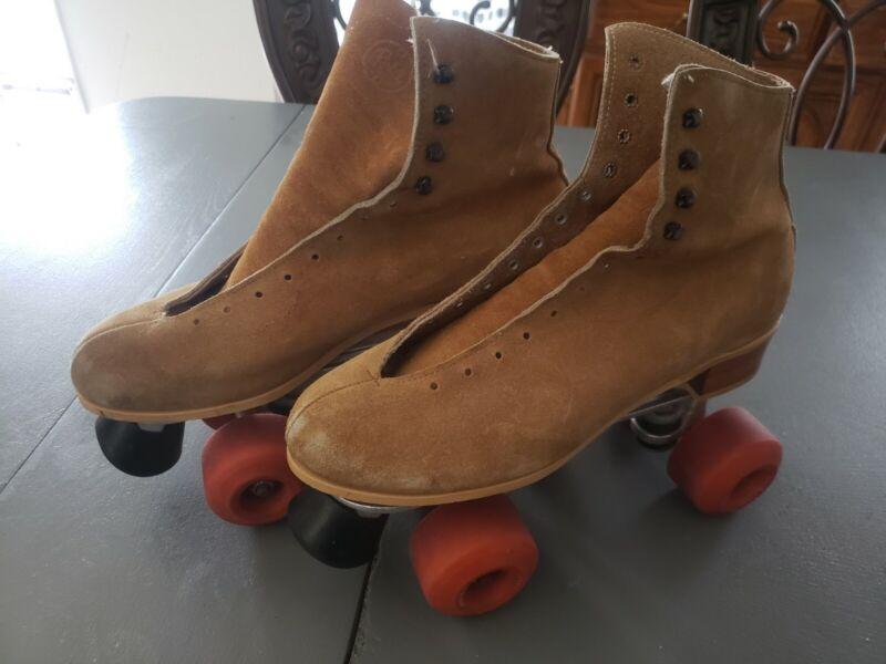 Vintage  classic sure~grip jogger  precision roller skate sz 9 Derby