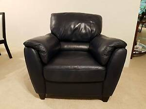 NATUZZI - Navy Leather armchair. Excellent condition Lane Cove Lane Cove Area Preview