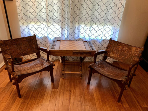 ANGEL PAZMINO Chairs and Chess set