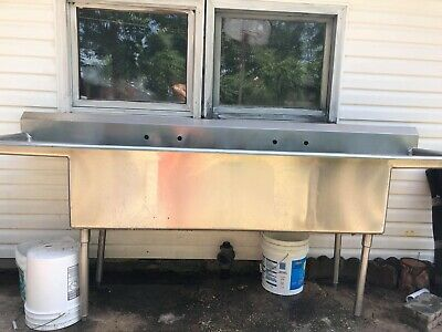 Stainless Steel Commercial Sink 99x24