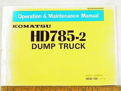 Komatsu Hd785-2 Dump Truck Operations Maintenance Manual 1501-up