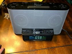 Sony Model ICF-CS10iP Alarm Clock AM / FM St/Radio w/ iPod/iPhone Dock Tested