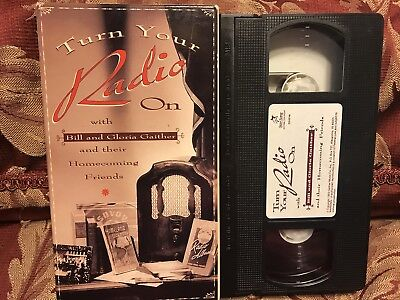 Used, Turn Your Radio On The GAITHERS Bill And Gloria Gaither VHS Video Gospel for sale  Rome