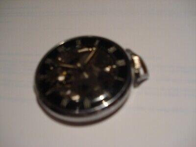 Vintage Girard-Perregaux Skeletonized display pocket watch Shell Oil advertising