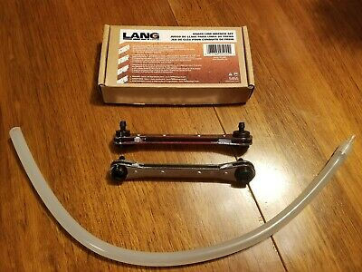 Lang 2pc Brake Bleeder Wrench Set, for 1 person Brake Bleeding #5455 - Brake Bleeder Wrench