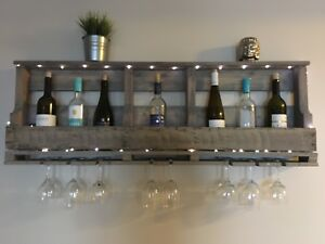 Wine rack made from reclaimed wood