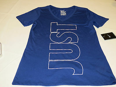 - Nike Womens short sleeve t shirt L Athletic Cut 729765 dk blu 455 training NWT*^