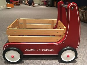 Classic Radio Flyer push wagon