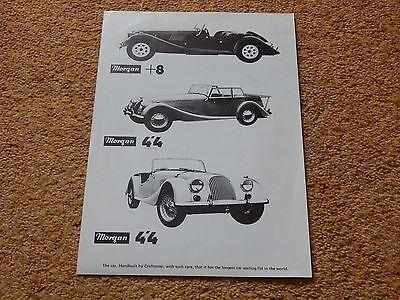Morgan 4/4 & Plus Eight Sales Brochure (UK) 1970's (no info) B&W sheet