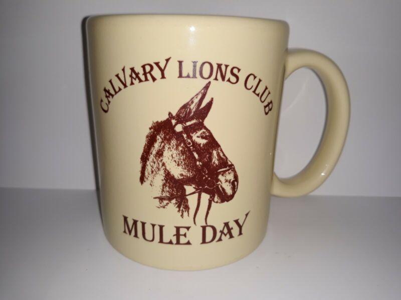 Calvary Lions Club Georgia Mule Day 1st Sat November Ceramic Coffee Mug Tea Cup