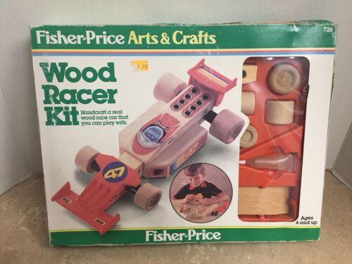 Fisher Price Arts & Crafts Wood Racer Kit 726 Vintage Model