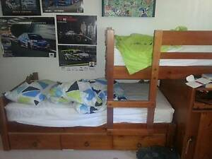 Double bunks - Bunkers solid wood plus desk and underbed drawers Belmont Belmont Area Preview