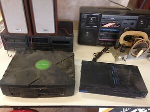 PS2 & original Xbox $10 each, not sure if they work