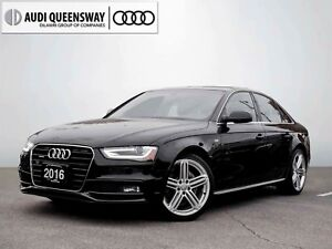 2016 Audi A4 2.0T Progressiv, S Line, Certified, One Owner