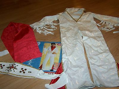 Size Small 4-6 50's Favorites Elvis Presley Rock Star Halloween Costume White - Favourite Halloween Costumes