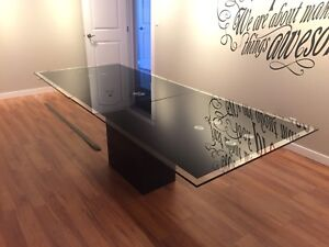 Modern Glass Dinning or Boardroom table
