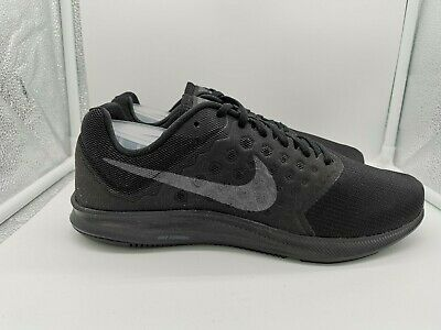 Nike Downshifter 7 UK 8 Black Metallic Hematite Anthracite 852459-001